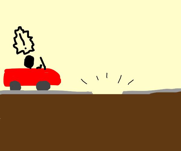 road broke