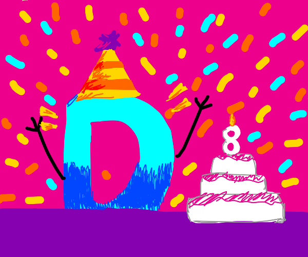 drawception is turning 8 years old! :)