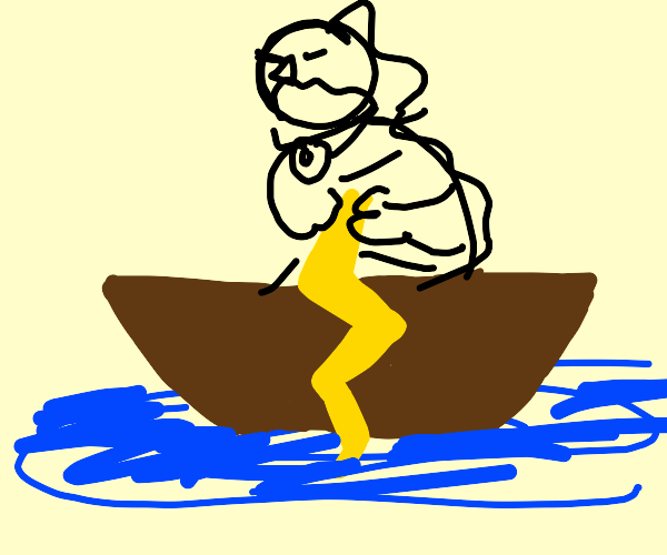 Zeus on boat