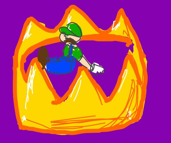 Tiny Luigi Stuck in a Crown