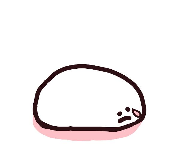 An egg cries.