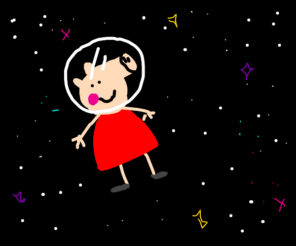 Peppa pig in outer space