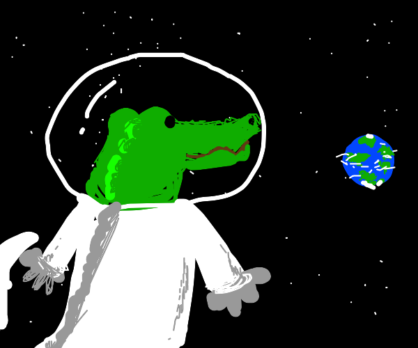 alligator sees earth from space