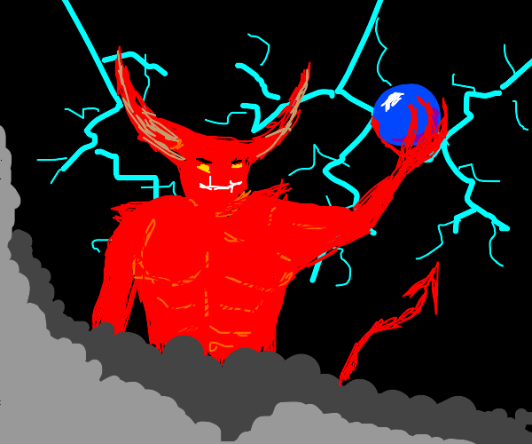 devil steals big blue orb