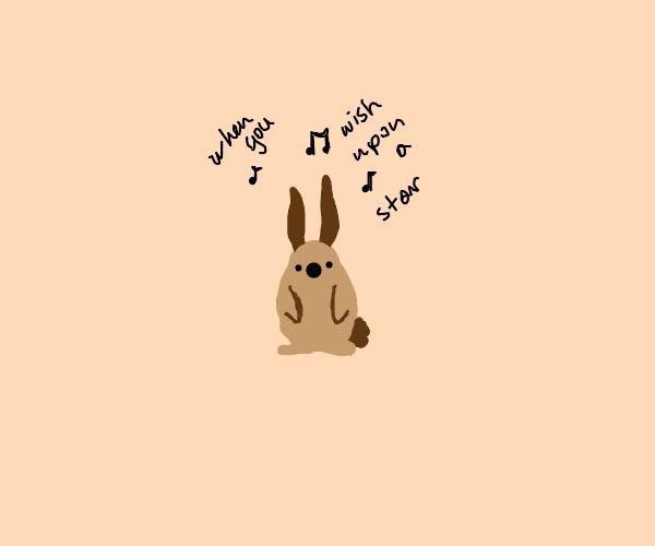 bunny singing karaoke