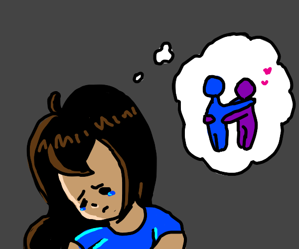 sad girl wants a hug