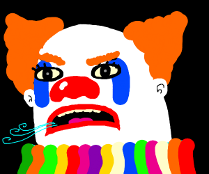 mouth breathing clown