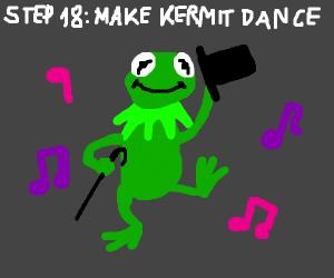 Step17:ask DrFrankenstein to ressurect Kermit