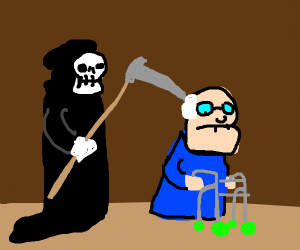 old man gets haunted by the grim reaper