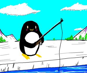 owo penguin fishing