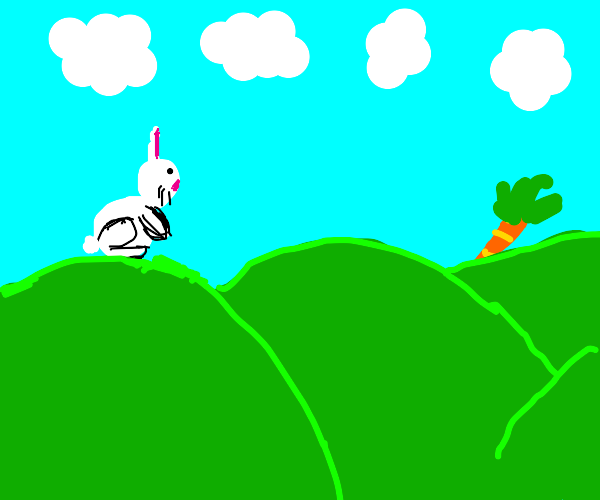Best drawn  bunny wanting carrot