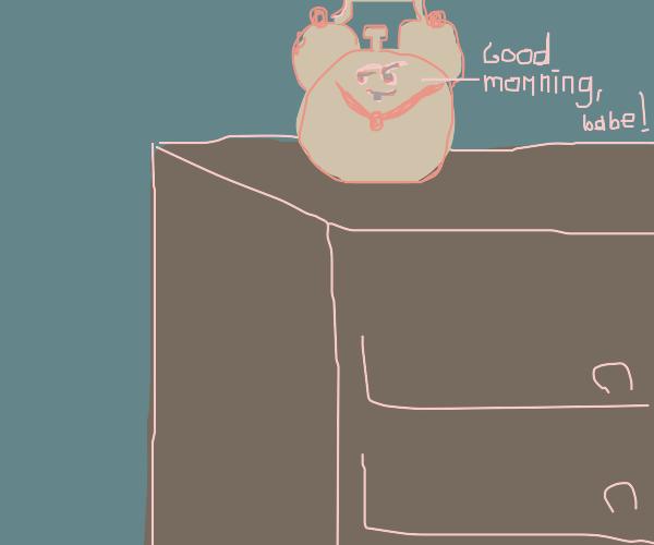 flirty alarm clock ;)