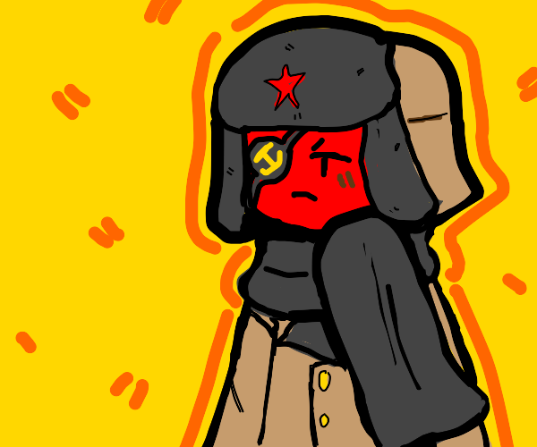 Angry but cute USSR Countryhuman