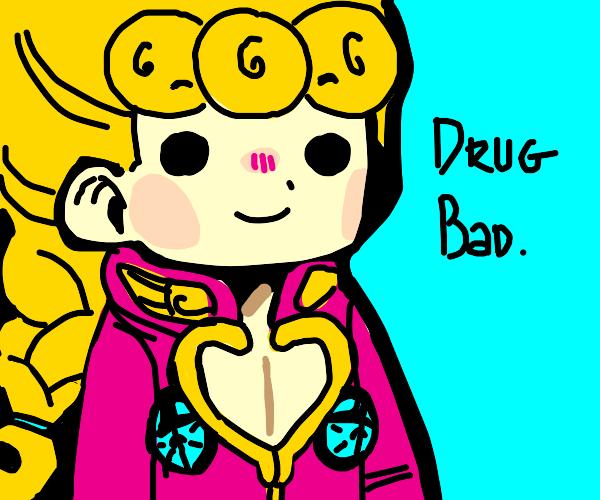 Giorno says Drugs R Bad
