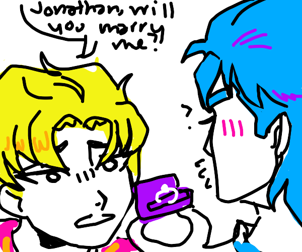 Dio asks Jonathan To marry him(he's confused)