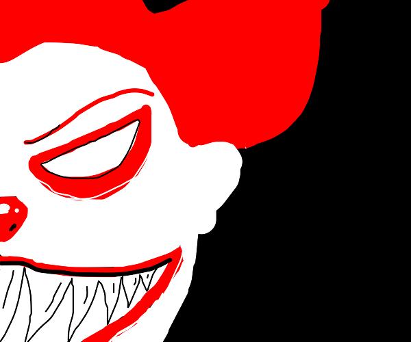 creepy clown face