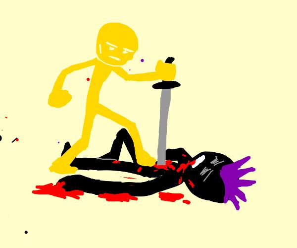 Punk superhero murdered by gold man