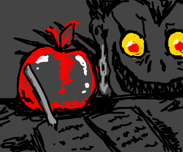 apple writes in the death note