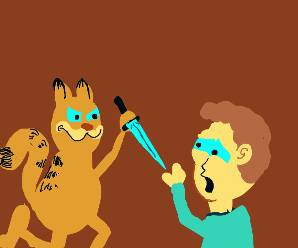 Garfield's about to knife the hell out of Jon