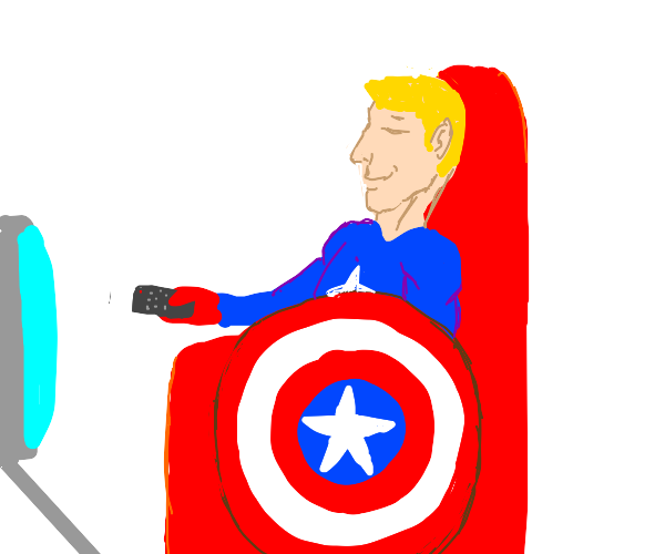 captain america just chills behind shield