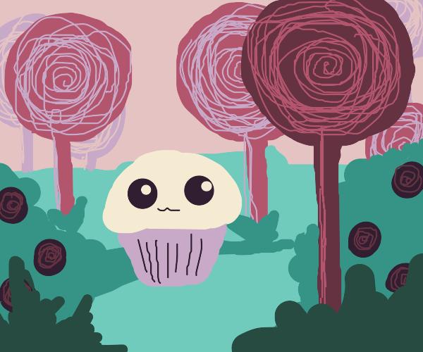 Cupcake in lollipop land