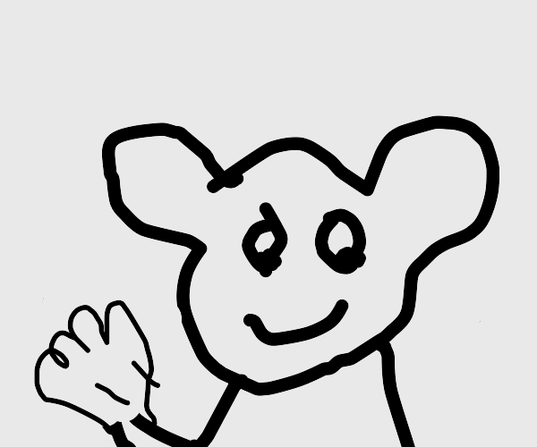 Deformed mickey mouse?