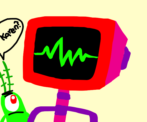 Robot with red television head