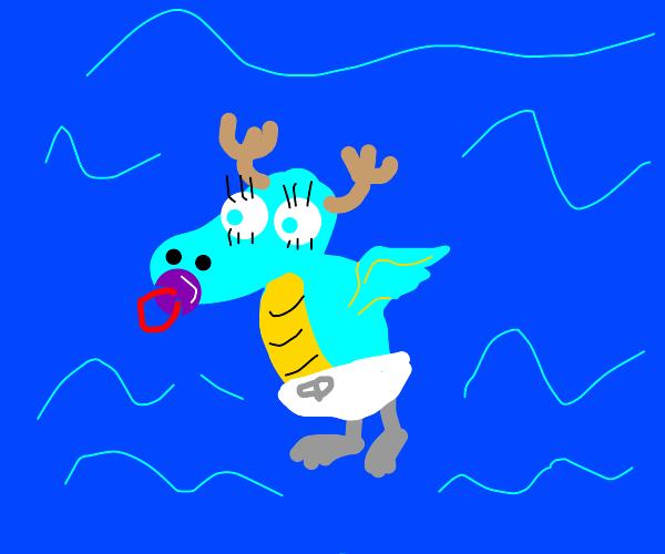 baby water moose dragon thing