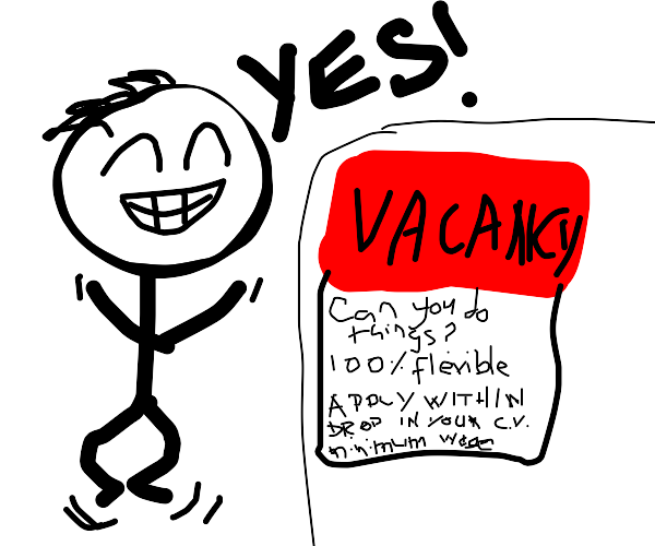 Man is pleased a business is hiring