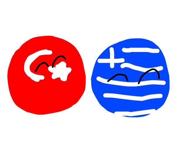 Turkey x Greece (Country-balls(?))