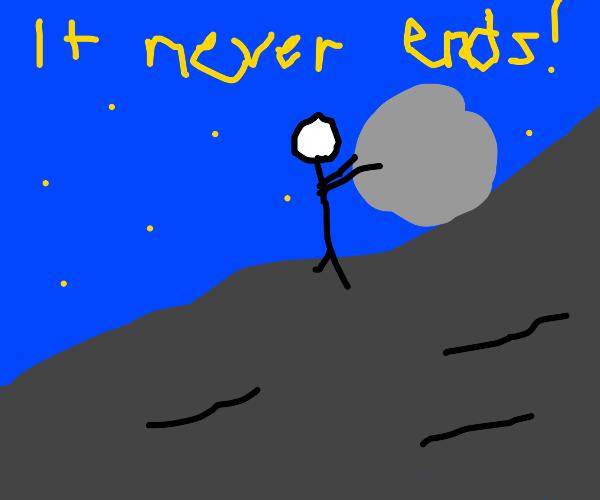 Greek mythos's Sisyphus