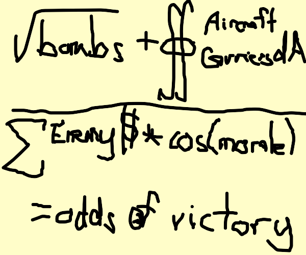 Complicated math equation used by military