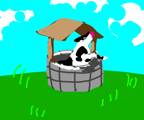 that one cow stuck in a well