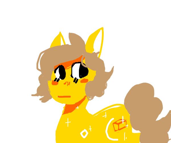 Golden unicorn (mlp?)
