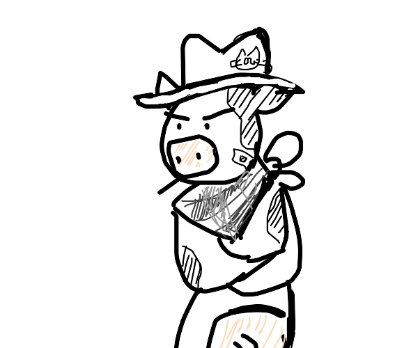 A Cowboy who is also a cow (Cow-Cowboy)