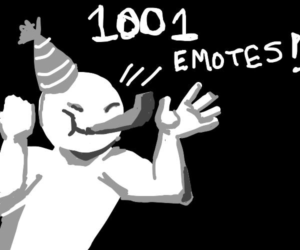 1001 emotes!!! :)