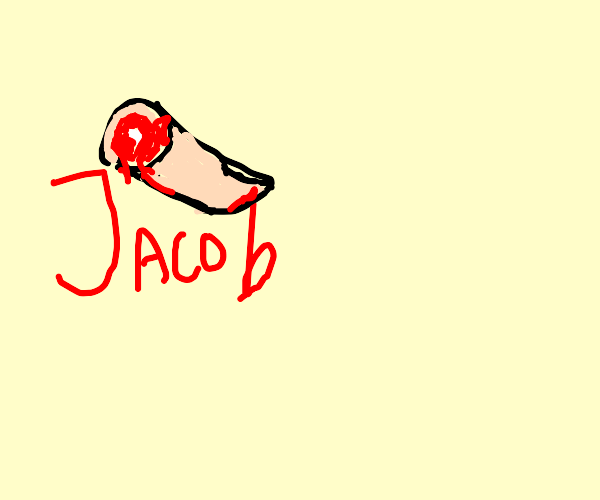 Amputated finger writes the name 'Jacob'