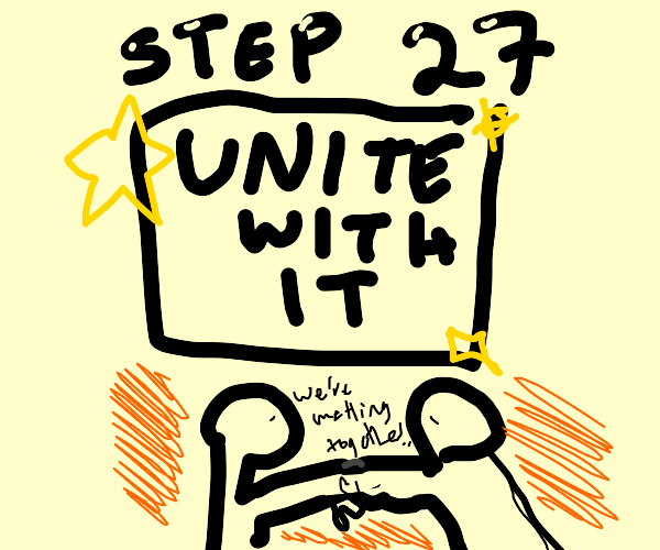 step 26: touch fingers with it