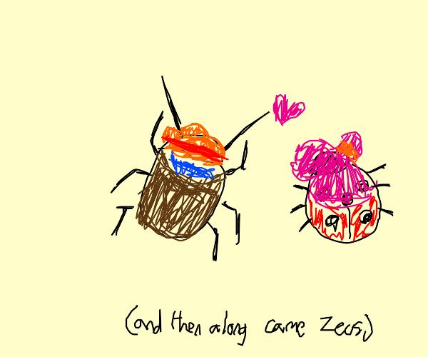 Hercules beetle & Ladybug's long journey