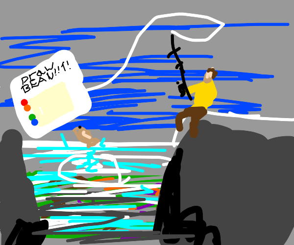 Fishing with a weird Drawception prompt