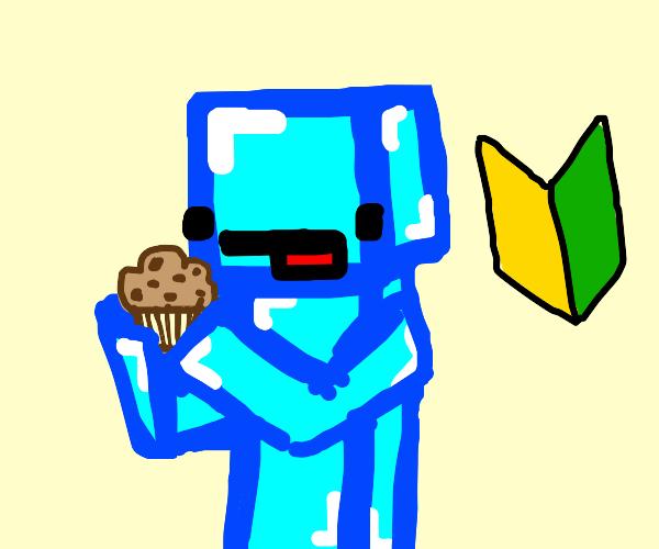 robot, a new driver, enjoys a muffin