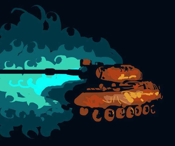 Tank enters the fog of war