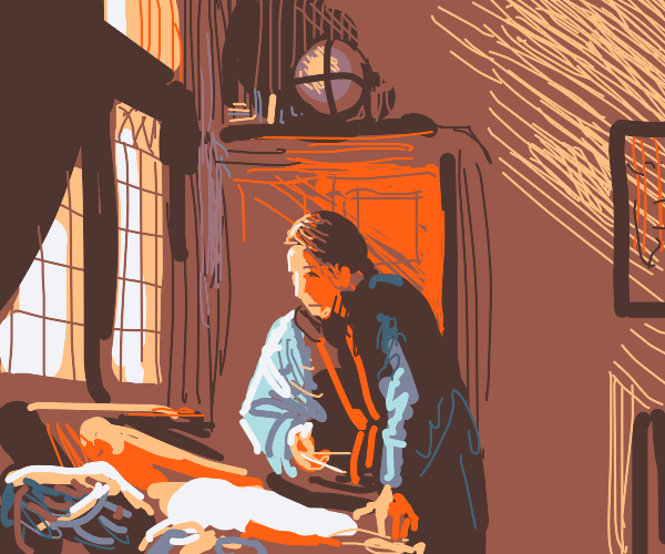 A quiet morning in the study