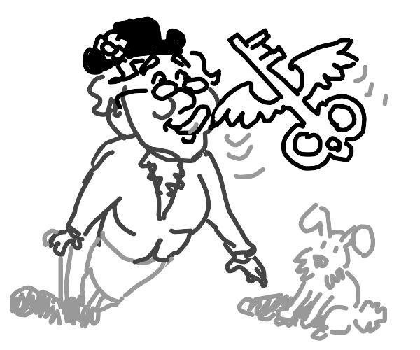 granny wants to lick flying key