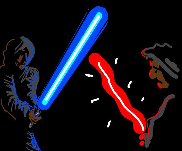 Realistic lightsaber v. bad lightsaber