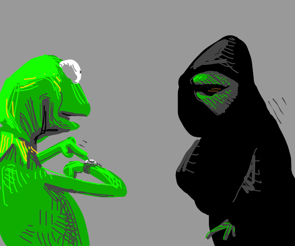 Our dark lord Kermit has finally come