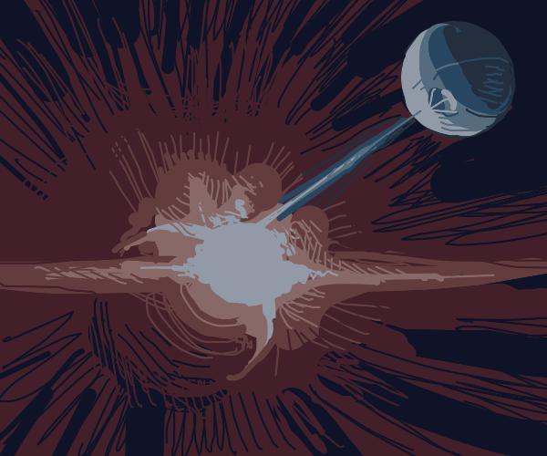 Explosion of Alderaan