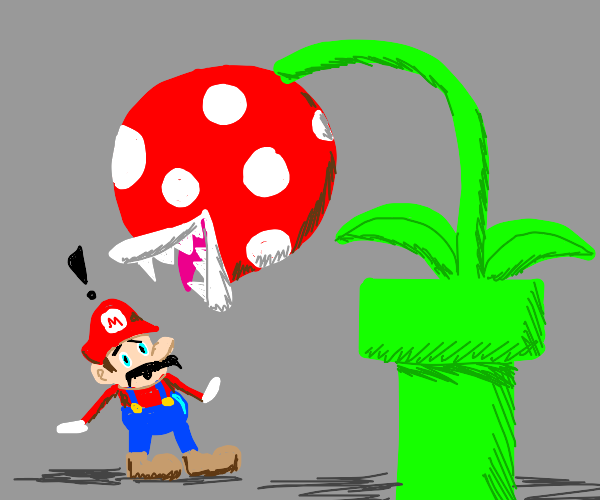 Man is eaten by plants