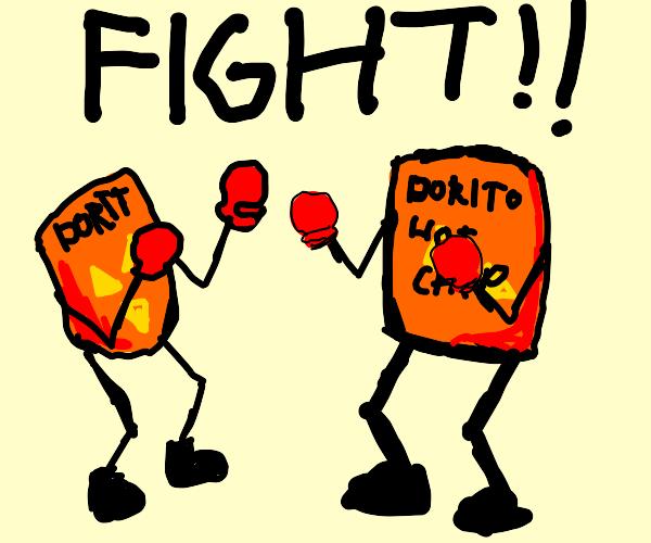 Dorito chip bag goes to Dorito Fued