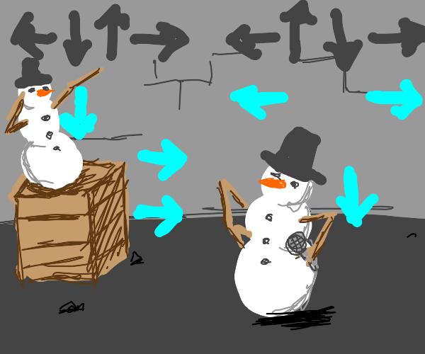 Friday Night Funkin' but it's Snowmen